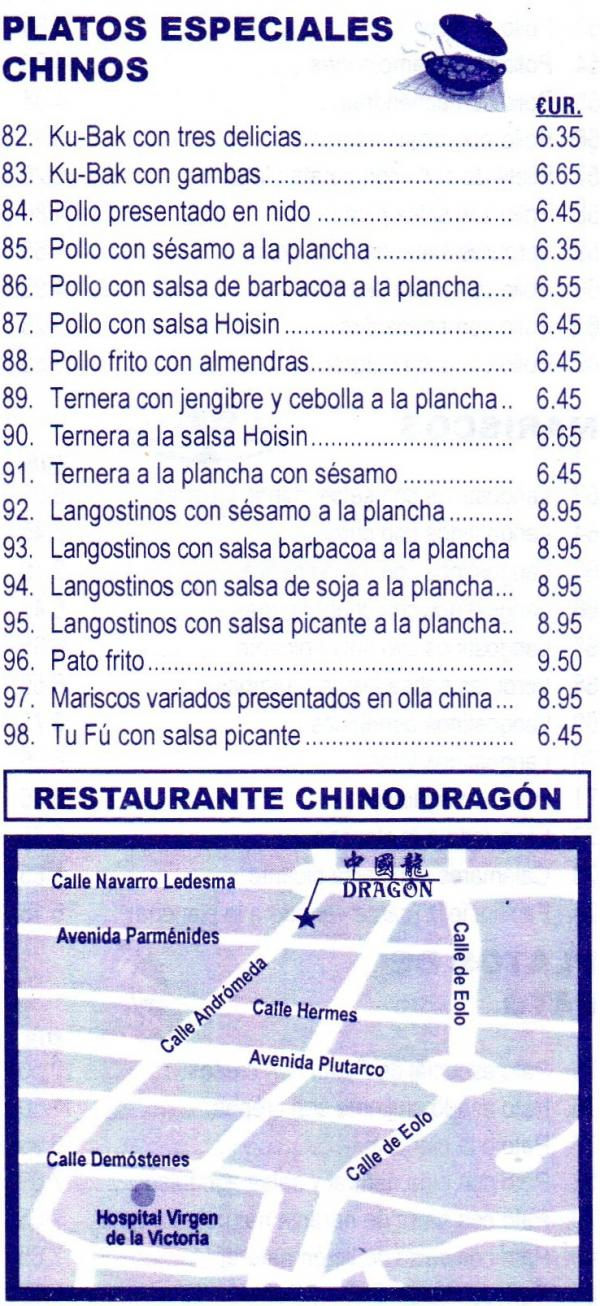 Restaurantes malaga capital restaurante chino dragon for Restaurante chino el jardin